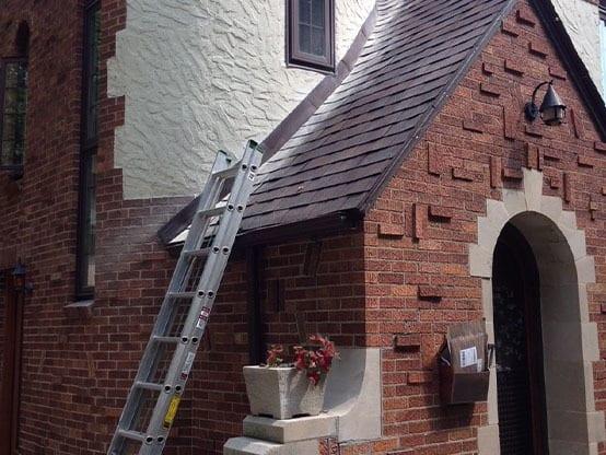 Old Building Ladder Roof